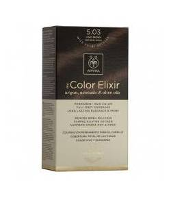 Tinte My Color Elixir 5.03 Castaño Claro Natural Dorado APIVITA Tintes