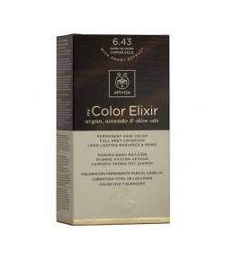 Tinte My Color Elixir 6.43 Rubio Oscuro Cobrizo Dorado APIVITA