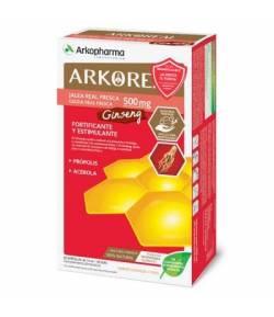 ARKOREAL Jalea Real Fresca 500mg + Ginseng Fortificante y Estimulante 20ud ARKOPHARMA Energía