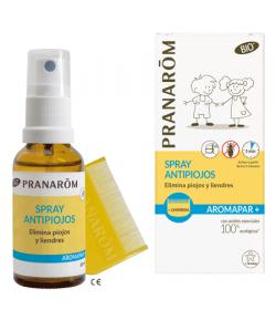 Aromapar Spray Antipiojos BIO + Lendrera PRANAROM Piojos