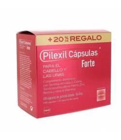Cabello y Uñas FORTE 100 + 20 Cápsulas PILEXIL Caída del cabello