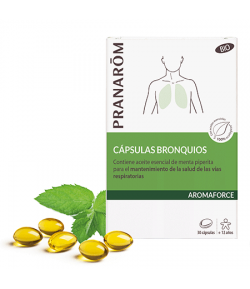 AROMAFORCE Cápsulas 75mg Bronquios BIO 30 Cápsulas PRANAROM Defensas