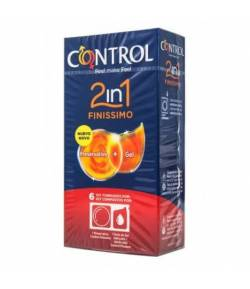 Preservativo Finissimo 2 en 1 CONTROL 6ud