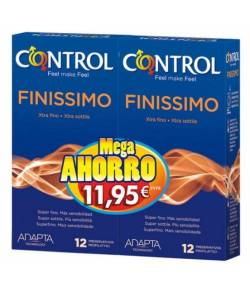 Preservativos Finissimo Control Mega Ahorro 12+12 Preservativos