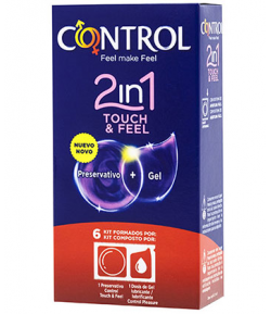 Preservativo Touch & Feel 2 en 1 CONTROL 6ud