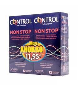 Preservativos Nonstop Control Mega Ahorro 12+12 Preservativos