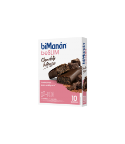 Barritas Beslim Chocolate Intenso Sustitutive 10 uds BIMANAN Sustitutivos