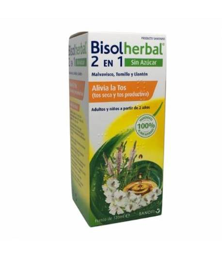 Jarabe Antitusivo BISOLHERBAL 2 EN 1 sin azúcar 120ml
