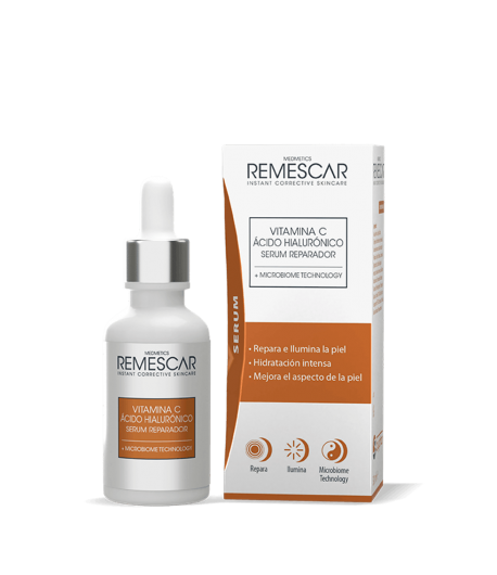 REMESCAR Vitamina C & Ácido Hialurónico Serum Reparador 30ml Antiedad