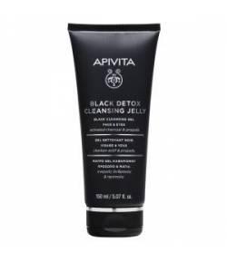 Gel limpiador negro 150ml Rostro y ojos APIVITA Limpiadores