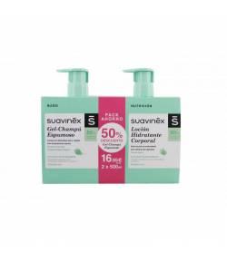 Gel-Champú Espumoso 500ml + Loción Hidratante Corporal 500ml SUAVINEX Gel de ducha