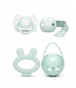 Hygge Baby Set: Chupete de Silicona, Broche, Portachupetes y Mordedor SUAVINEX Mordedores