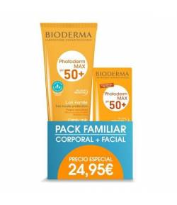Pack Familiar Photoderm Leche solar SPF50 250ml +Aquafluido SPF50 40ml BIODERMA Protección solar
