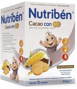 NUTRIBÉN Cacao con Galletas María 500gr 8 Cereales