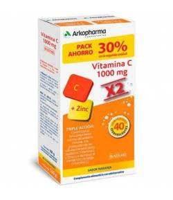 ARKOVITAL Vitamina C 1000mg +Zinc 40 comp Efervescentes ARKOPHARMA