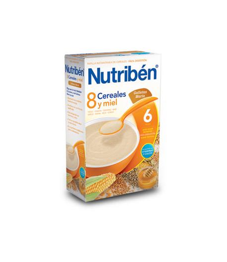 NUTRIBÉN 8 Cerales, Miel y Galletas María 600gr 8 Cereales