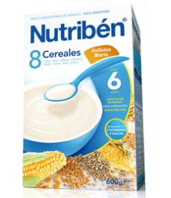 NUTRIBÉN 8 Cereales y Galletas María 600gr