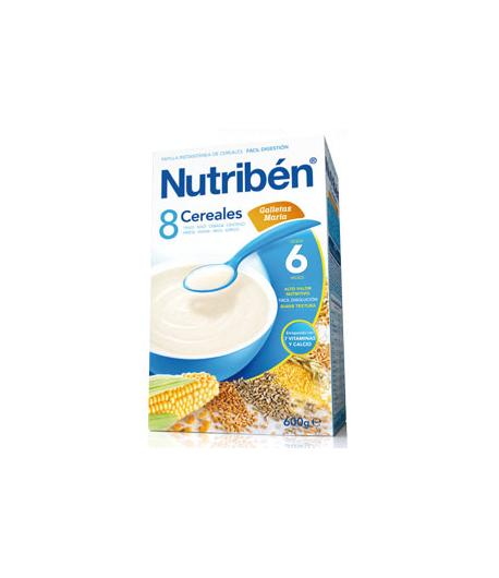 NUTRIBÉN 8 Cereales y Galletas María 600gr 8 Cereales