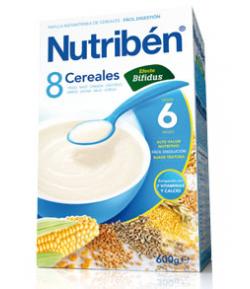 NUTRIBÉN 8 Cerales Efecto Bífidus 600gr 8 Cereales