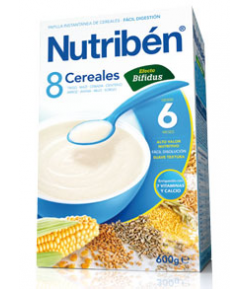 NUTRIBÉN 8 Cerales Efecto Bífidus 600gr