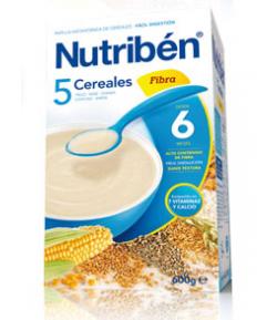 NUTRIBÉN 5 Cereales con Fibra 600gr 5 Cereales