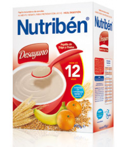 NUTRIBÉN Papilla de Trigo y Frutas 600gr