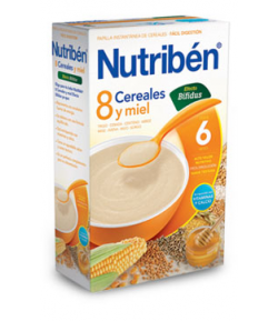NUTRIBÉN 8 Cereales y Miel Efecto Bífidus 600gr