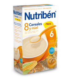 NUTRIBÉN 8 Cereales y Miel Fibra 600gr 8 Cereales