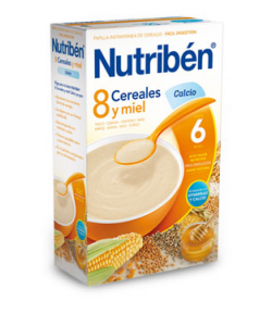 NUTRIBÉN 8 Cereales y Miel Calcio 600gr