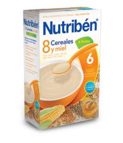 NUTRIBÉN 8 Cereales y Miel 4 Frutas 600gr