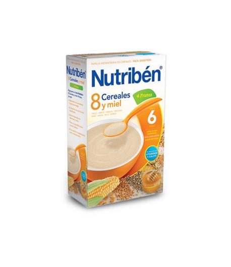 NUTRIBÉN 8 Cereales y Miel 4 Frutas 600gr 8 Cereales