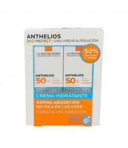 ANTHELIOS SPF50+ Crema Hidratante 2x50ml LA ROCHE POSAY Protección solar